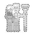 happy farmer icon image vector image vector image