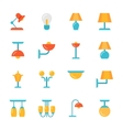 Icon set of Lamps Modern Flat style vector image vector image