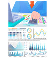 infographics calculations business man