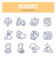 Insurance Doodle Icons vector image vector image
