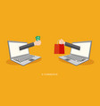 Internet payment concept flat vector image
