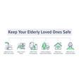 keep elderly people safe from coronavirus poster vector image vector image