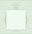 kingly frame vector image vector image
