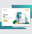 landing page template money statement or bill vector image