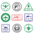 military insignia stamps set vector image