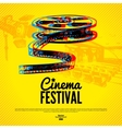 Movie cinema festival poster background vector image