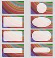 Multicolored fractal art business card design set vector image vector image