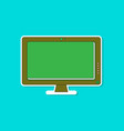 paper sticker on background of computer monitor vector image vector image
