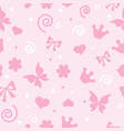 pattern for little girls for textiles vector image