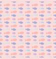 pink pastel fish stripes vector image vector image