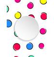 Pop art colorful confetti background big colored