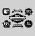 Premium quality label badges