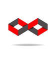 Red and black rhombus logo creative design vector image vector image
