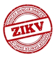 Red and white Zika Virus stamp vector image vector image