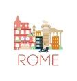 rome classic toristic scenery vector image vector image