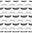 seamless pattern sea shells outlines black vector image vector image