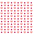seamless valentines day polka dot red pattern vector image vector image