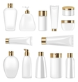 Set Cosmetic Plastic Bottle and Tube Isolated on vector image vector image