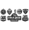 set of beer badges vector image vector image
