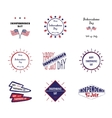 Set of label Independence day vector image vector image