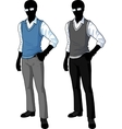 Silhouette student in casual formal wear vector image