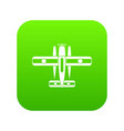 ski equipped airplane icon digital green vector image vector image