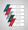 steps lines progress banners with colorful tags vector image vector image