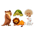 Sticker set of many wildlife vector image vector image