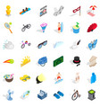 summer game icons set isometric style vector image vector image