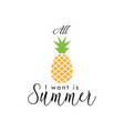 summer quote lettering typography vector image vector image