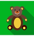 Teddy bear icon in flat style vector image vector image