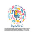 toucan circle vector image