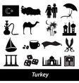 turkey country theme symbols icons set eps10 vector image vector image