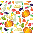 vegetable color pattern vector image vector image