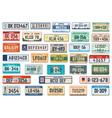 vehicle registration plates car license plates vector image