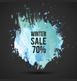 winter-sale-blue-spot vector image vector image