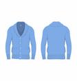 mens blue cardigan vector image