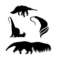 silhouettes of a ant-eater vector image