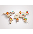 3d world map with modern elements of info graphics vector image