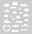 set of clouds on transparent background vector image