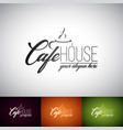 coffe cup logo design template set of cofe shop vector image