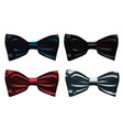 four bow ties vector image