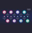8 steps infographic design timeline chart vector image