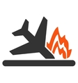 Airplane Crash Icon vector image vector image