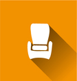 armchair chairfurniture long Shadow vector image vector image