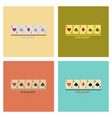 assembly flat icons poker cards straight vector image vector image