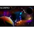 Astrology Sign Scorpio vector image