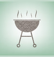 barbecue simple sign brown flax icon on vector image vector image