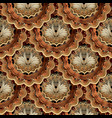 baroque gold 3d seamless pattern ornamental vector image