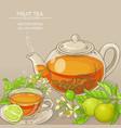bergamot tea background vector image